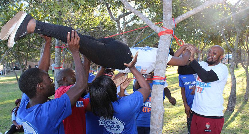 Team Building Activities Bushman Rock